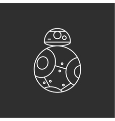 Toy robot icon vector image