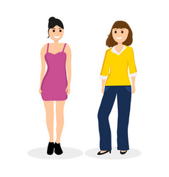 women young girlfriends communicate vector image