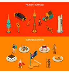 Australian Touristic Attractions 2 Isometric vector image vector image