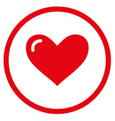 love heart rounded icon vector image vector image