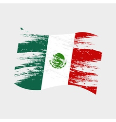 mexico color national flag grunge style eps10 vector image vector image