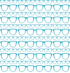 seamless blue pattern of sunglasses vector image vector image