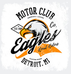 Vintage american furious eagle custom bike motor vector