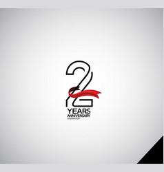 2 years anniversary logotype simple design vector