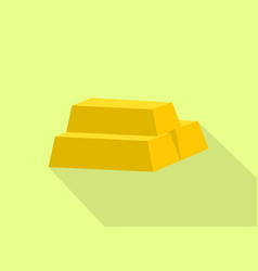 a gold golden bar stack with flat style and long vector image