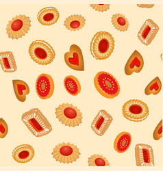a seamless background fruit baking vector image