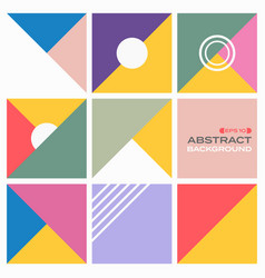 abstract background of colorful pattern geometric vector image