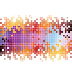 Abstract digital background with colorful pixels vector image