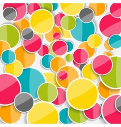 Abstract Glossy Circle Background vector