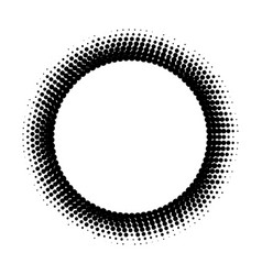 Abstract halftone circle background vector