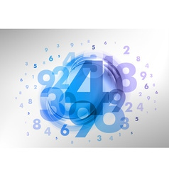abstract numbers blue vector image