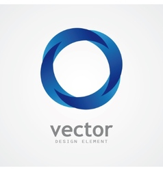 Abstract round blue logo vector image