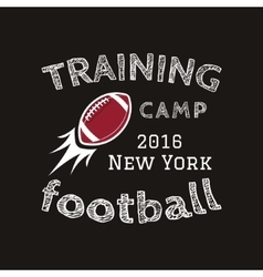 American football training camp logotype emblem vector