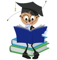 Ant Student reading book vector image