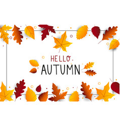 autumn composition modern and creative poster vector image