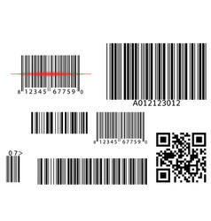 bar qr code scanning digital code scan vector image