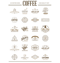big set coffee elements and coffee accessories vector image
