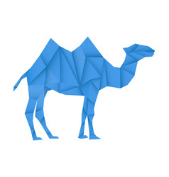 blue camel polygonal vector image