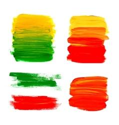 Bright acrylic brush strokes vector