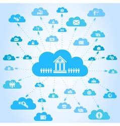 Business a cloud3 vector image