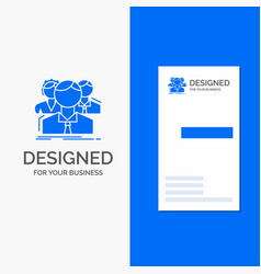 Business logo for group multiplayer people team vector