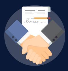 Business man handshake vector