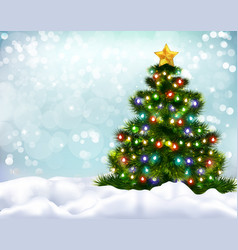 Christmas realistic background vector