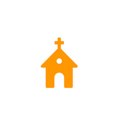 church icon on white vector image