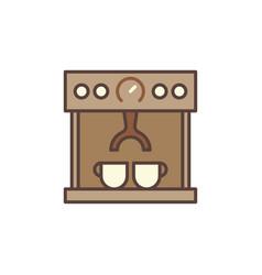 Coffee machine maker concept brown icon vector