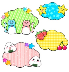 cute stickers vector image