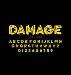 damaged font vector image