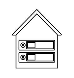 Datacenter icon vector