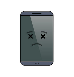 Departed mobile phone isolated emoticon vector