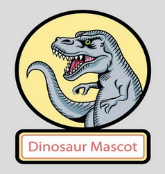 Dinosaur mascot vector