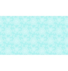 Elegant white lace flower seamless pattern on blue vector image