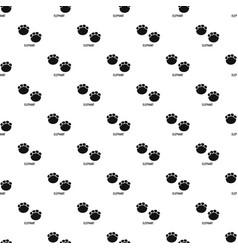 elephant step pattern seamless vector image
