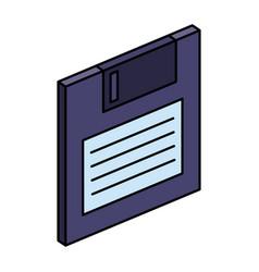 Floppy disk data storage icon vector