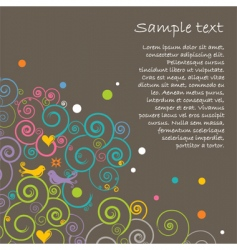 Floral layout vector