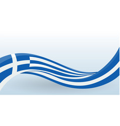 greece national flag waving unusual shape design vector image