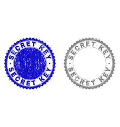 Grunge secret key scratched watermarks vector