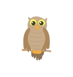 Halloween owl icon in cartoon style vector image