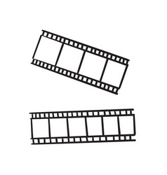 hand drawn doodle film strip icon isolated vector image
