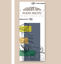 hand drawn with fast food restaurant menu vector image