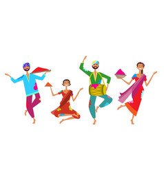 happy holi religious india holiday traditional vector image