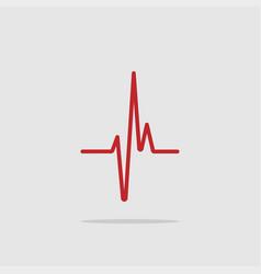heartbeat - icon heartbeat line heartbeat icon vector image