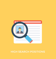 High search position vector