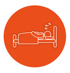 human silhouette sleeping in the bed vector image