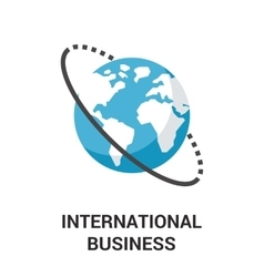 International business icon concept vector