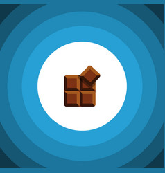 isolated delicious flat icon cocoa element vector image