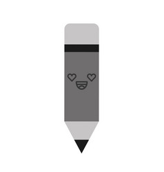 Kawaii pencil cartoon vector
